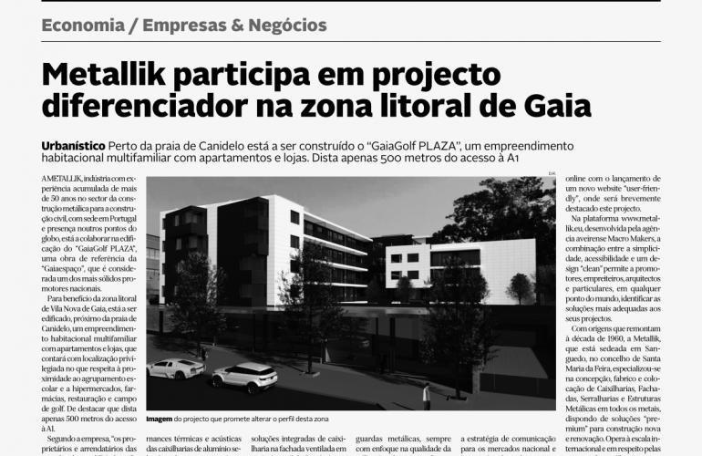 Metallik Participa en un Proyecto Diferenciador en la Zona Costera de Gaia